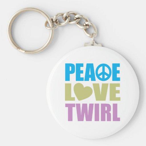 Peace Love Twirl Key Chains