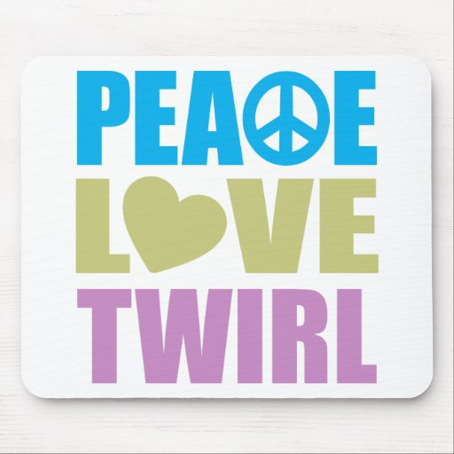 Peace Love Twirl Mouse Pad