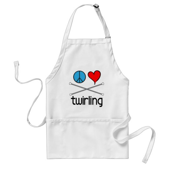 Peace Love Twirling Adult Apron