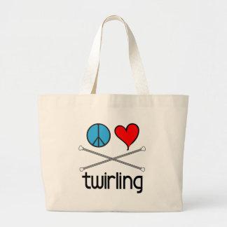 Peace Love Twirling Bag