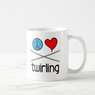Peace Love Twirling Coffee Mug