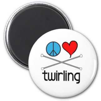 Peace Love Twirling Magnet