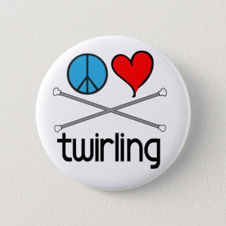 Peace Love Twirling Pinback Button