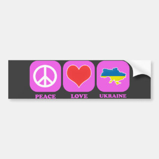 Peace Love Ukraine Car Bumper Sticker