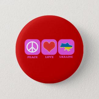 Peace Love Ukraine Button
