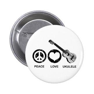Peace Love Ukulele Buttons