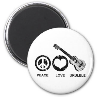 Peace Love Ukulele Magnet