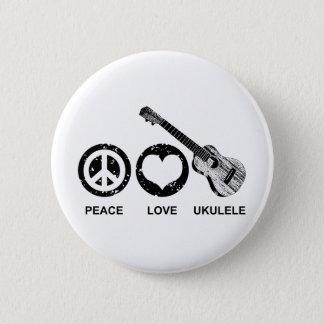 Peace Love Ukulele Pinback Button
