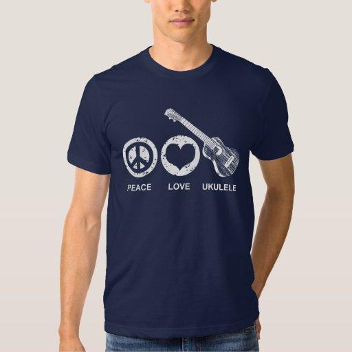 Peace Love Ukulele T-shirts