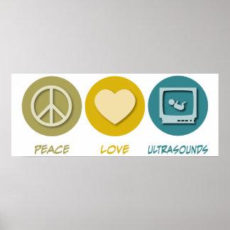 Peace Love Ultrasounds Poster