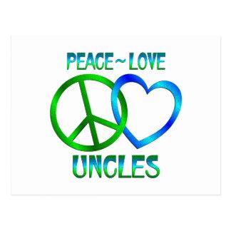 Peace Love Uncles Postcard