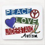 PEACE LOVE UNDERSTAND AUTISM MOUSE PADS