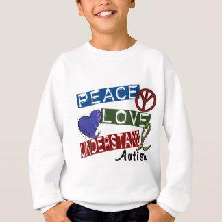 PEACE LOVE UNDERSTAND AUTISM SWEATSHIRT