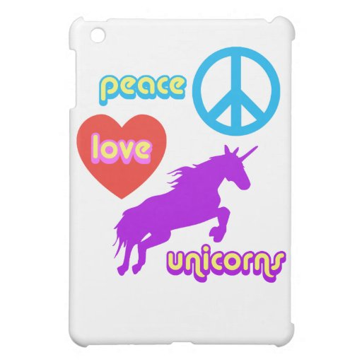 Peace Love Unicorns iPad Mini Case