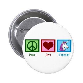 Peace Love Unicorns Pinback Button