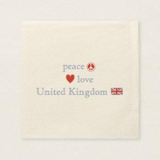 Peace Love United Kingdom Standard Cocktail Napkin
