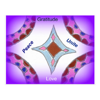 Peace Love Unity hakuna matata .png Postcard