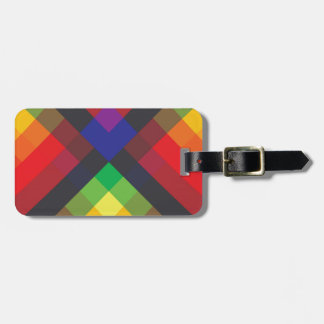 Peace, Love, Unity, Respect Abstract Luggage Tag