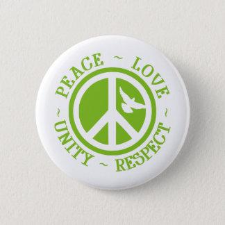 Peace Love Unity Respect Pinback Button