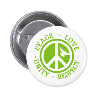 Peace Love Unity Respect Pinback Button