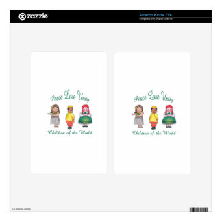Peace Love Unity Decals For Kindle Fire