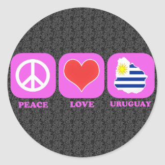 Peace Love Uruguay Sticker