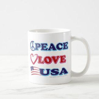 Peace-Love-USA Classic White Coffee Mug