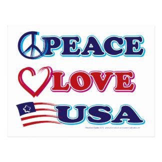 Peace-Love-USA Postcard