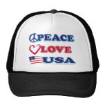 Peace-Love-USA Trucker Hat