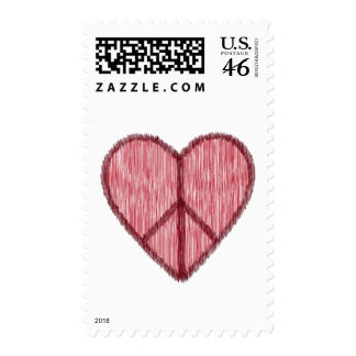 Peace, Love, Valentines Postage Stamps