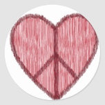Peace, Love, Valentines Stickers