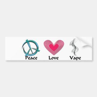 Peace Love Vape Sticker Car Bumper Sticker