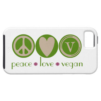 Peace Love Vegan iPhone 5 Cover