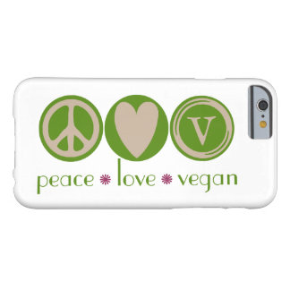 Peace Love Vegan Barely There iPhone 6 Case