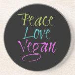 Peace, Love, Vegan Coasters