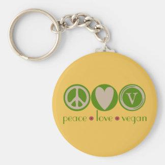 Peace Love Vegan Keychain