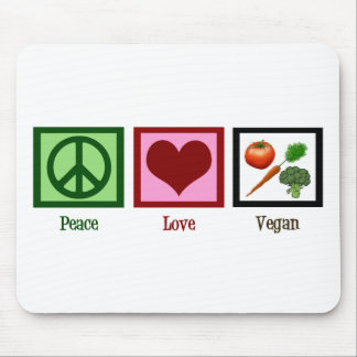 Peace Love Vegan Mouse Pads
