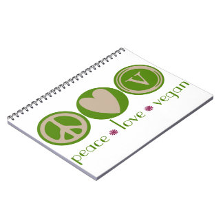 Peace Love Vegan Notebook