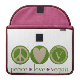 Peace Love Vegan Sleeve For MacBooks