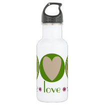 Peace Love Vegan Stainless Steel Water Bottle