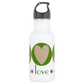Peace Love Vegan Stainless Steel Water Bottle