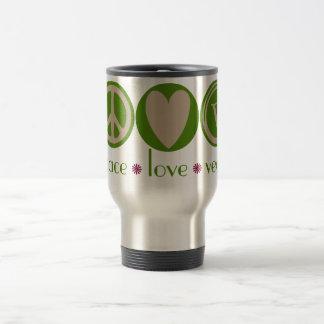 Peace Love Vegan Travel Mug