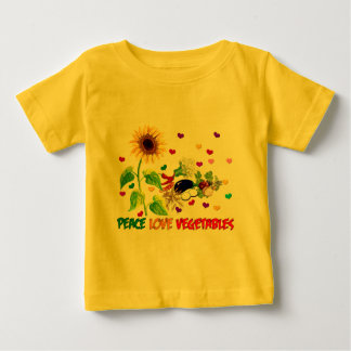 Peace Love Vegetables Baby T-Shirt