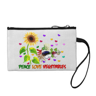 Peace Love Vegetables Coin Wallets
