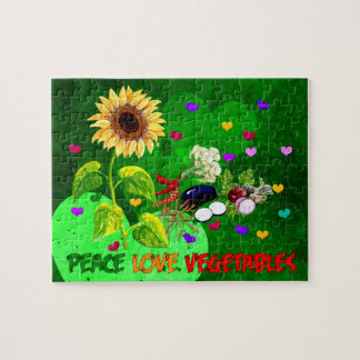 Peace Love Vegetables Jigsaw Puzzle