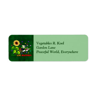 Peace Love Vegetables Label