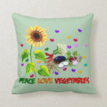 Peace Love Vegetables Pillow