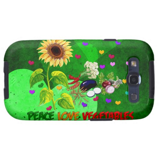 Peace Love Vegetables Samsung Galaxy SIII Cases