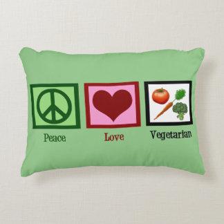 Peace Love Vegetarian Decorative Pillow