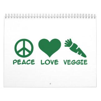 Peace love veggie calendar